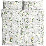 Ikea Strandkrypa Duvet Cover and Pillowcases, King, White