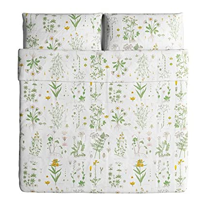 Amazon Com Ikea Strandkrypa Duvet Cover And Pillowcases King
