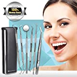 6 Pcs Dental Tools Kit, Dentist Picks Plaque Remover Scraper Set Best for Personal Use