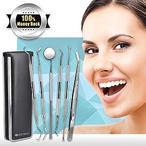 6 Pcs Dental Tools Kit, Dentist Picks Plaque Remover Scraper Set Best for Personal Use 12