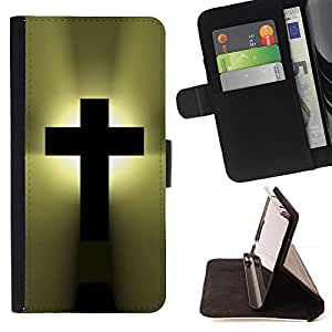 For Samsung Galaxy S5 Mini, SM-G800 God Christianity Bible Heaven Leather Foilo Wallet Cover Case with Magnetic Closure