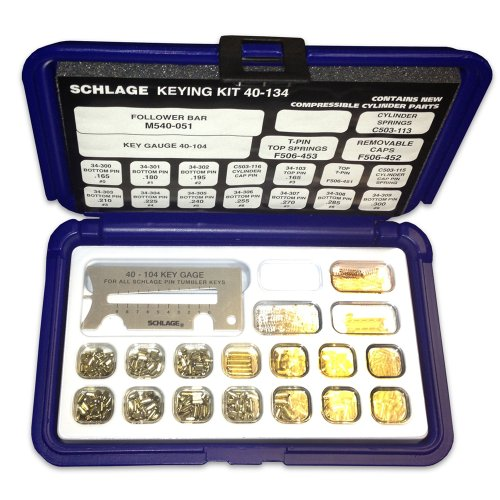 Schlage 40-134 Pin Kit with Snap-Tight Plastic Box (Lock Rekeying Kit)