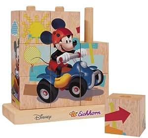 Eichhorn 100003303 Mickey Mouse - Puzzle de cubos fabricado en madera