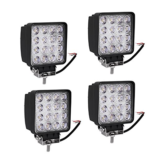 Led Light Bar YITAMOTOR Led Pod Light,4Pcs 4 inch 48W Square