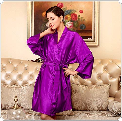 Verano color Champagne Sexy Seda Xl Camisón Purple Extranjeros Damas Simulación Pijamas Lindo Blue color Bridge Vestido Purple UqwvUP7