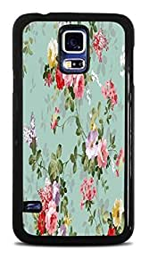 Vintage Roses Floral Black Hardshell Case for Samsung Galaxy S5
