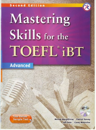 Mastering Skills for the TOEFL iBT, 2nd Edition Advanced Combined MP3 Audio CD
