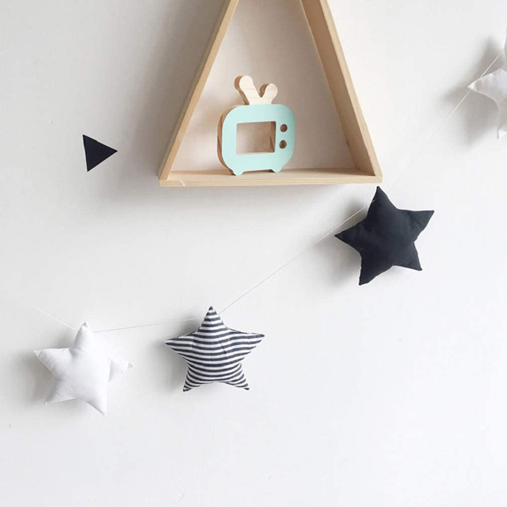 Junhouse Ceiling Mobile Nursery Bed Tent Star Hanging Decorations Garland for Kids Room Baby Shower