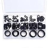 Atoplee 200pcs NBR O-Ring Washer Sealing Assortment Kit, Black (15 Sets)