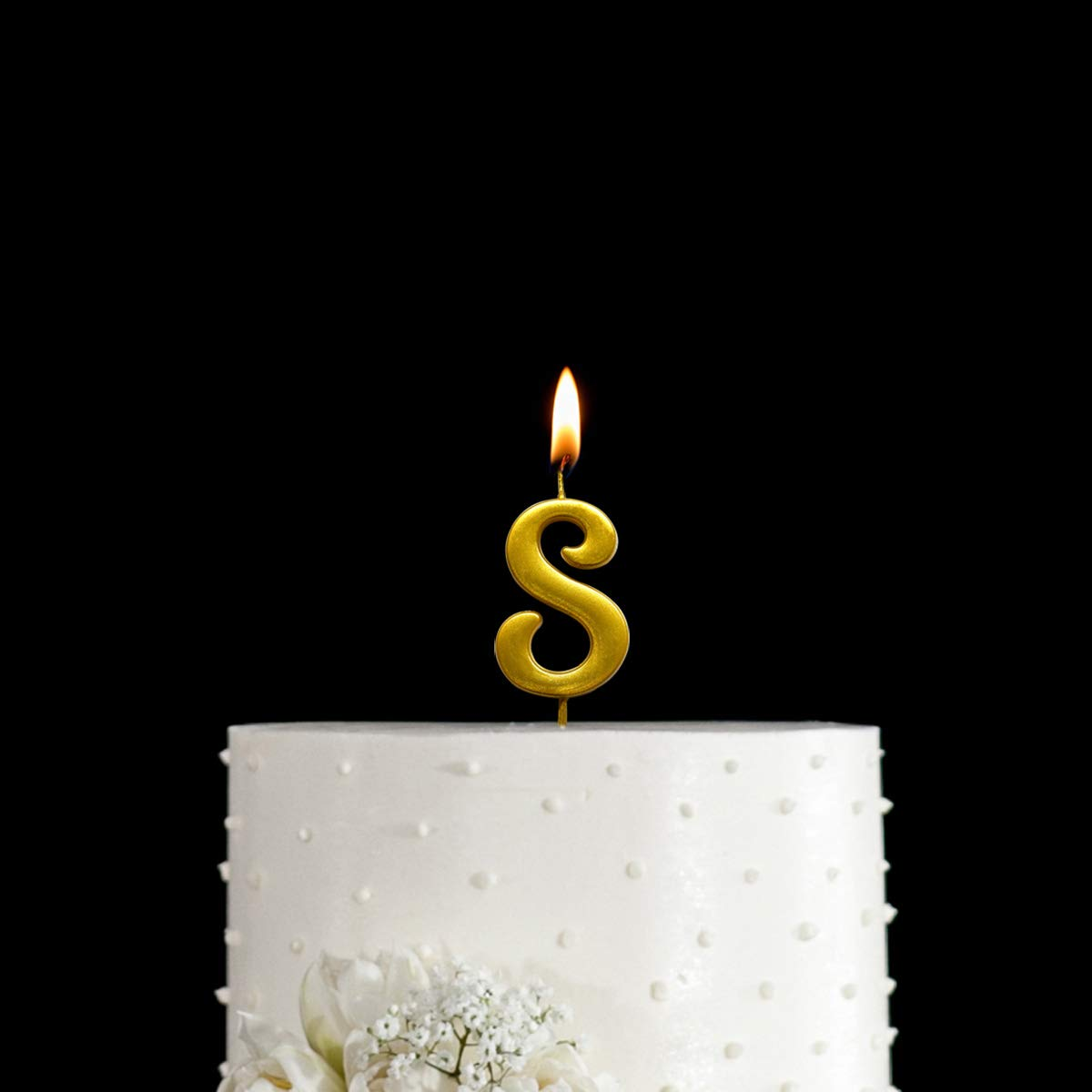 MAGJUCHE Gold 8th Birthday Numeral Candle Number 8 Cake Topper Candles Party Decoration for Girl Or Boy