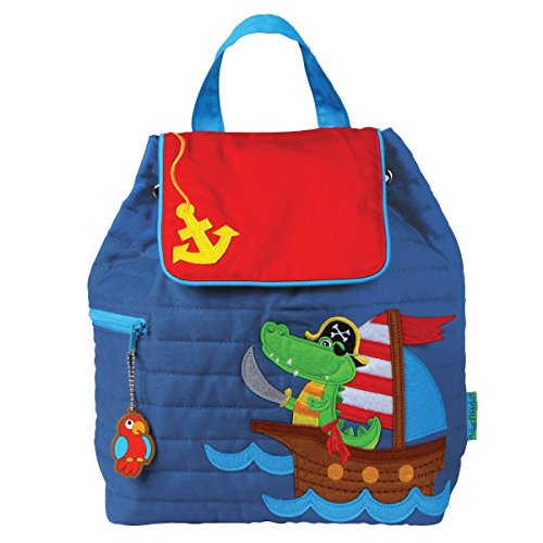 (Stephen Joseph Quilted Backpack, Alligator/Pirate)