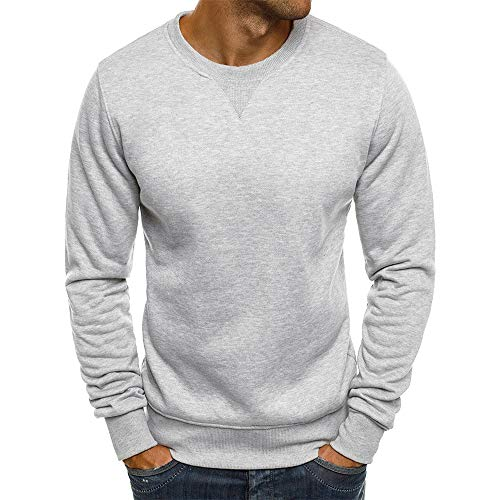 Cathalem Men's Basic Crewneck Sweatshirt Super Soft Pullover Tops Fleece Long Sleeve T Shirt
