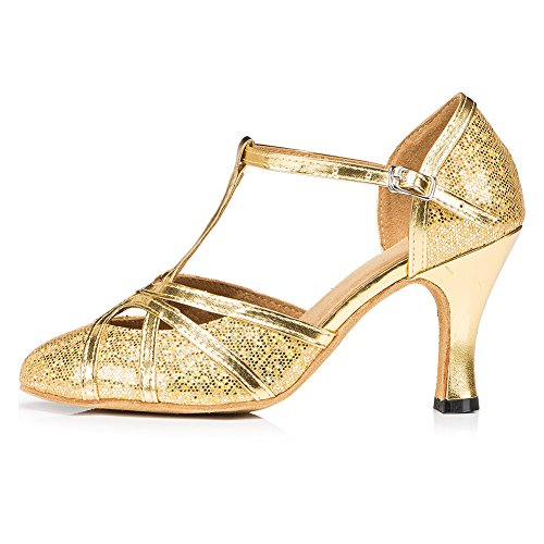 Soft Dancing Shoes Sequins Bling Modern Dance Women Shoes Latin Girls Meijunter Ballroom pfw7zgqHnx