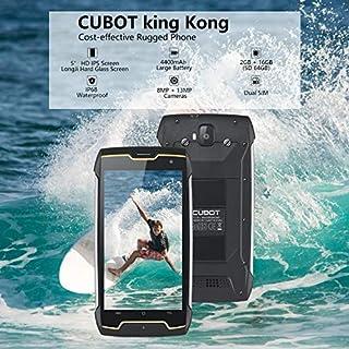 CUBOT King Kong Smartphone 16GB Unlocked Rugged Cell Phone, Straight Talk Phone with 4400mAh, 5 Inch HD IPS, 13+8MP Camera, IP68 Waterproof, Quad-Core, Dual SIM, GPS, Compass, 2GB RAM