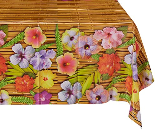 [Beistle 57068 Luau Tablecover, 54 by 108-Inch] (Luau Party Supplies)