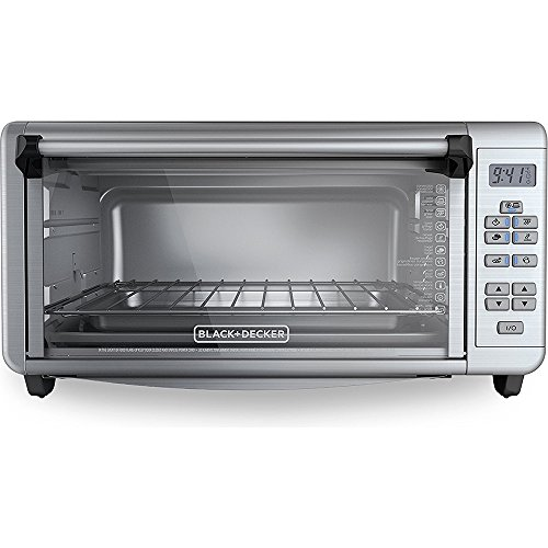 Extra-Wide Toaster Oven, Stainless Steel