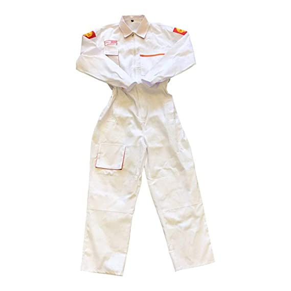1105cd9be9 Shell White Overalls M  Amazon.co.uk  Clothing