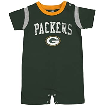 c9f791b7423 Image Unavailable. Image not available for. Color  Green Bay Packers Baby  Old School Romper ...