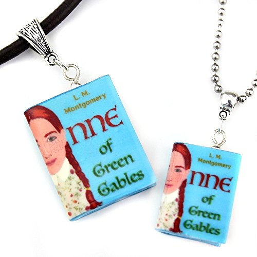 ANNE OF GREEN GABLES Lucy Maud Montgomery Polymer Clay Mini Book Pendant Necklace by Book Beads Choose Your Necklace (Halloween Film Costume Ideas)