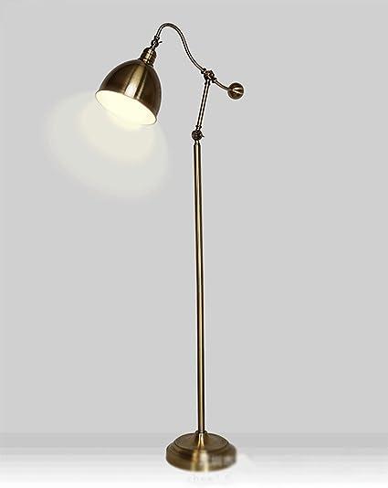 WPLDD Lámpara de pie/lámpara de pie de Cobre Antigua/lámpara ...