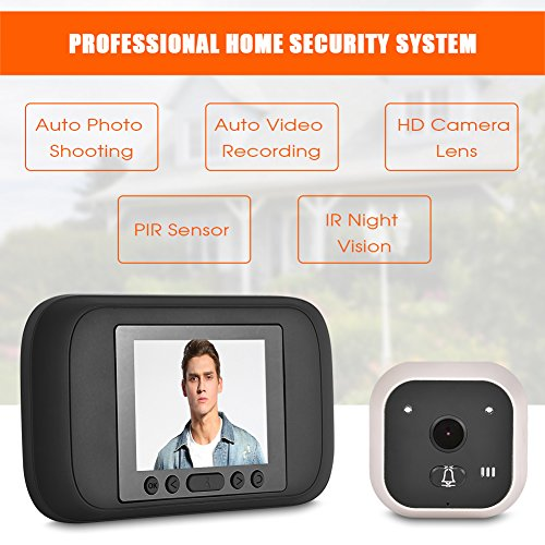 Sonew 720P HD Resolution Camera Visual Video Digital Doorbell HOM Peephole Viewer IR Night Vision with 160 Degrees Wide Angle for House/Office/Apartment/Hotel by Sonew (Image #1)