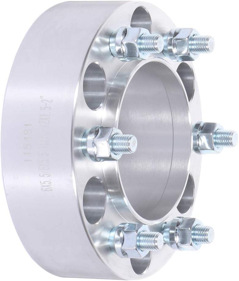 ECCPP 4X 2 hub Centric Wheel spacers 6 Lug 6x5.5 to 6x5.5 12x1.5 106mm fits for Lexus GX460 GX470 LX450 Toyota 4Runner
