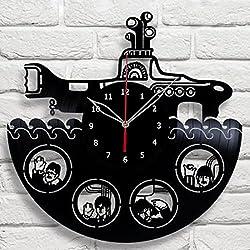 Handmade The Beatles Yellow Submarine Vinyl Record Wall Clock Fan Art Decor Unique Decorative Vinyl Clock 12 (30 cm) #9