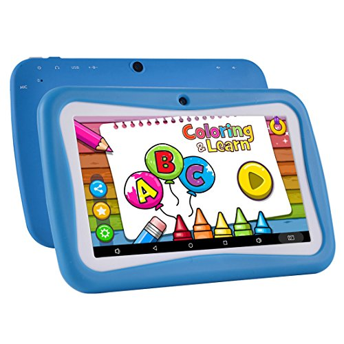 Kids Tablet Android 7.1, 7 Inch, HD Display, Quad Core, Children Tablet, 1GB RAM + 8GB ROM, with WIFI, Dual Camera, Bluetooth, Educational, Multi Touch Screen Kid Model, Parental Control