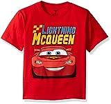 Disney Little Boys' Toddler Cars Lightning Mcqueen Toddler T-Shirt, Red, 4T