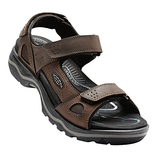 Keen Mens Rialto 3 Point Sandal  Dark Earth Black  8 M Us