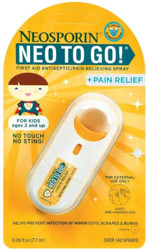 Neo To Go Plus Pain Relief Spray For Kids .26oz Tubes (Pack of 2)