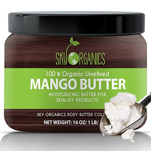 Best Raw Mango Butter by Sky Organics 16oz- 100%