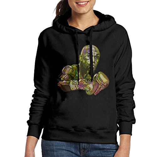 FUOCGH Women's Pullover Mayweather Hoodie Sweatshirts Black L