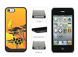 Cute Cartoon Giraffe Plastic Phone Case Back Cover Apple iPhone 5 5s