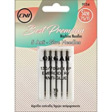 Clover 9134 Best Premium Machine Needles, Anti-Glue