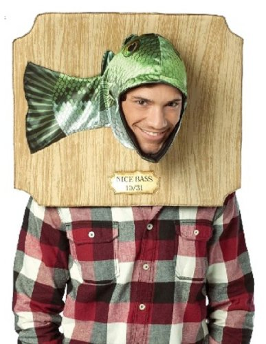 Funny Easy Halloween Costumes (Rasta Imposta Nice Bass Trophy Costume, Green, One Size)