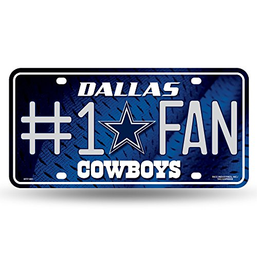 NFL Dallas Cowboys #1 Fan Metal License Plate Tag -