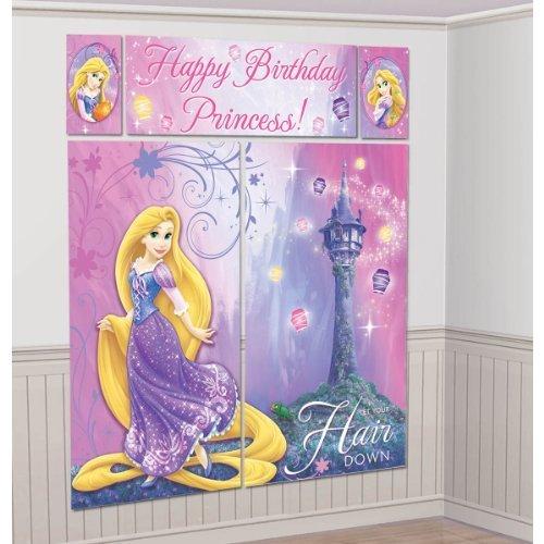Tangled Sparkle Giant Scene Setter Wall Decorating Kit (5pc)