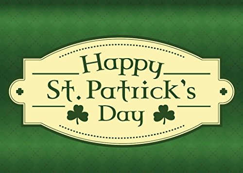 St. Patrick's Day Greeting Cards - Luck of The Irish - LTI100. Greeting Cards with a St. Patrick's Day Message and Shamrocks. Box Set Has 25 Greeting Cards and 26 Green Colored Envelopes.