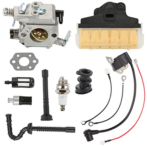 Butom Carburetor with 1123 160 1650 Air Filter Ignition Coil Fuel Oil Line Tune Up Kit