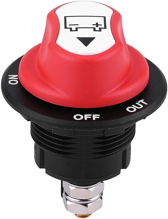 Qiilu 32 V 100a Cont 150a Int Auf Aus Autobatterie Isolator Schalter Für Autos Geländewagen Lkw 6mm Auto