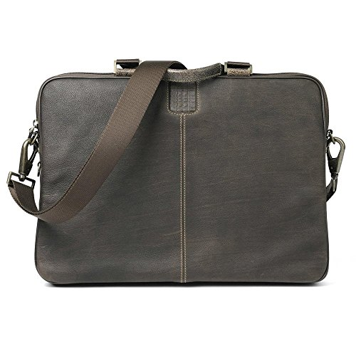 Boconi Bags and Leather Hendrix - Sleeve Brief Laptop Bag Brown Leather ()