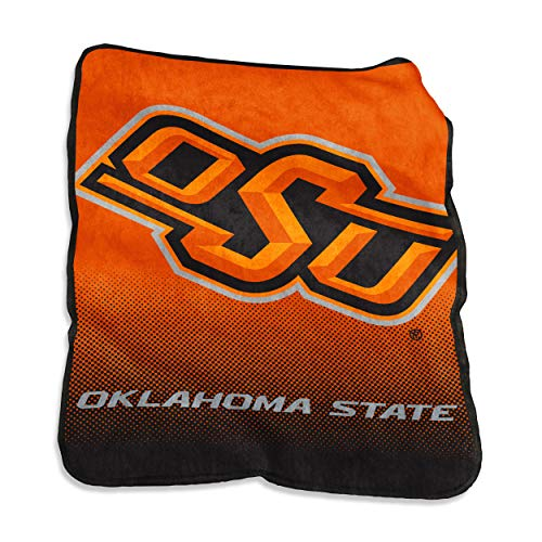 Logo Brands NCAA Oklahoma State Cowboys Raschel Throw, One Size, Orange