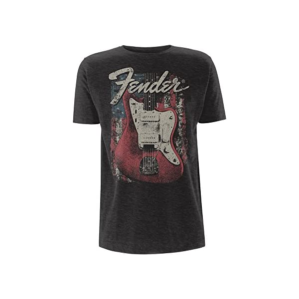 Fender Electric Guitars Rock 2 Official Tee T-Shirt Mens Unisex