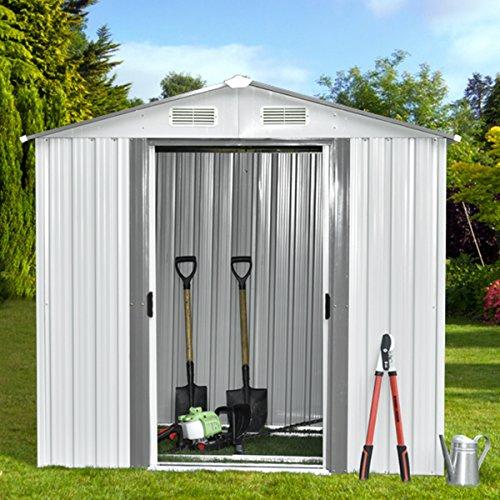 Walcut 8ft by 8ft Outdoor Steel Garden Storage Utility To...