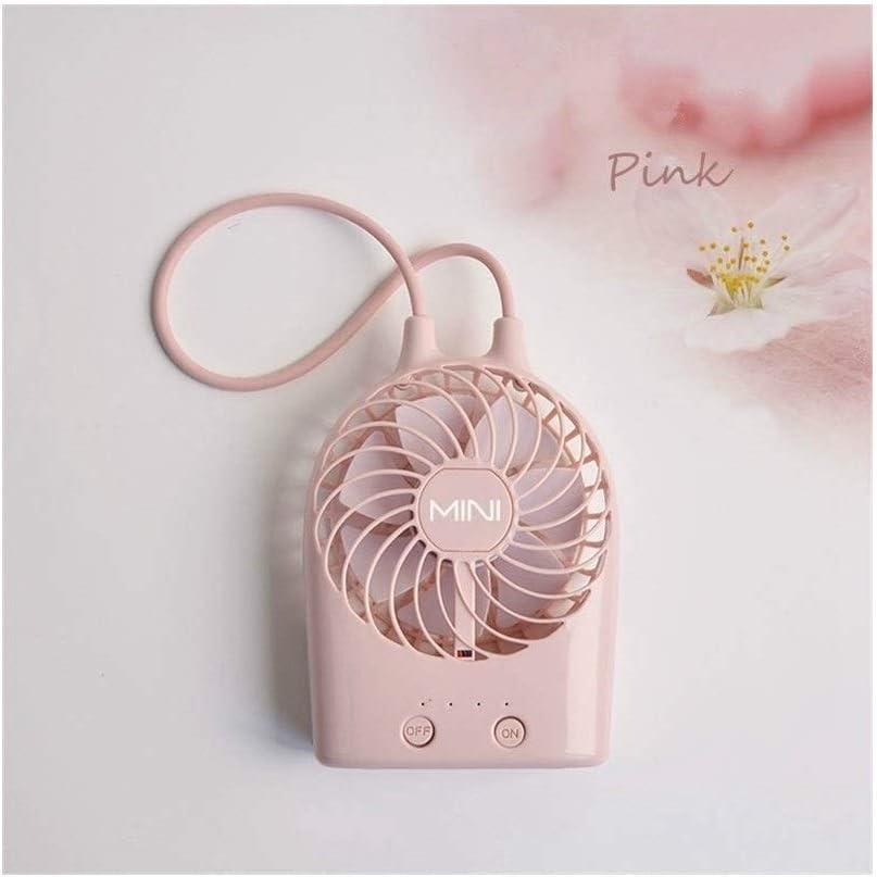 Color : Pink Air Cooler USB Rechargeable Mini Fan Summer Desktop 3 Gears Electric Small Fan Portable Handheld Fan
