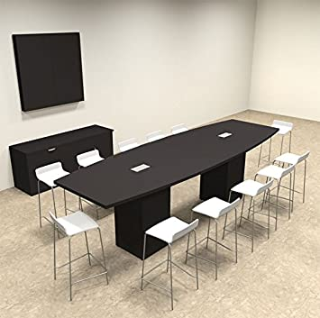 Amazoncom Boat Shape Counter Height Feet Conference Table - 12 foot conference room table