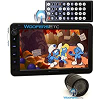 pkg Soundstream VR-732B 7 In-Dash 1-DIN Touchscreen DVD Receiver with Bluetooth with XO Vision HTC36 Backup Camera with Nightvision