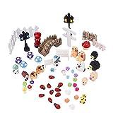 eBoot Garden Miniatures Ornaments Kit for DIY Fairy Garden Dollhouse Decoration, 56 Pieces