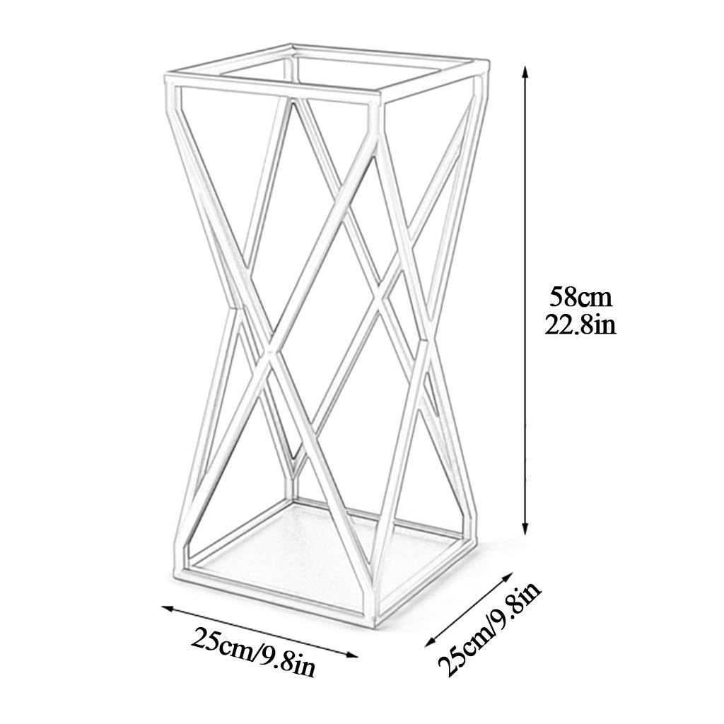 58 Cm 25 Dimensioni 25 Portaombrelli Supporto in Metallo Dorato Tradizionale di Design E Canna da Pesca Design Openwork